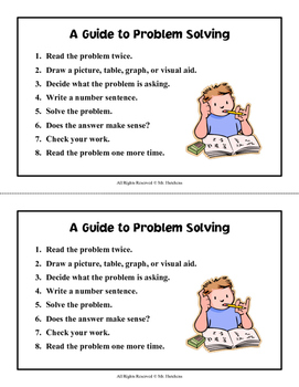 A Guide to Problem Solving