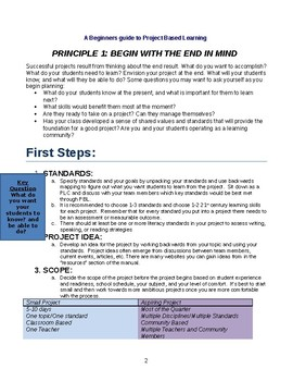 A Guide to Project Based Learning