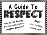 A Guide to Respect: Nonfiction Text Features Article with Readers Response