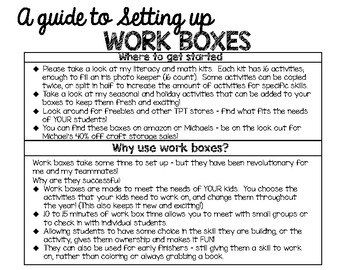 A Guide to Setting up Work Boxes