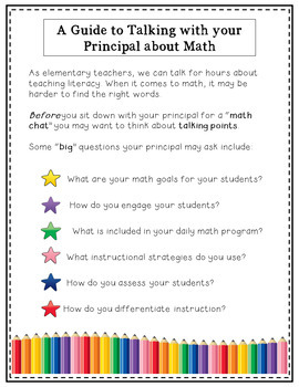 A Guide to Talking With Your Principal About Math