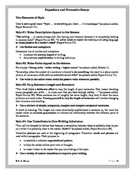 A Guide to Writing Effective Expository and Persuasive Essays