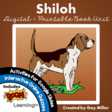 Shiloh Novel Study: vocabulary, comprehension questions, w