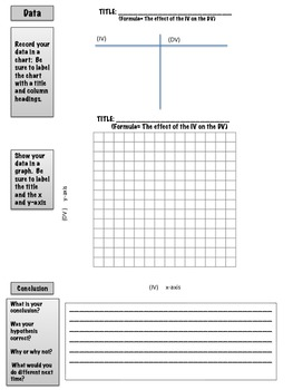 "A ""Guided""  General Science Experiment Lab Sheet"