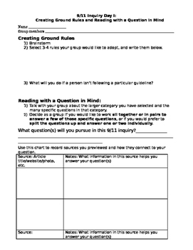 A Guided Inquiry for September 11