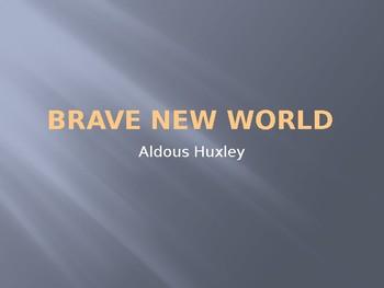 A. HUXLEY / BRAVE NEW WORLD / BACKGROUND
