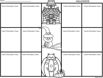 A+ Halloween: Easy Plans...Editable Papers