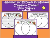 A+ Halloween & El Dia de los Muertos Venn Diagram Compare  And Contrast