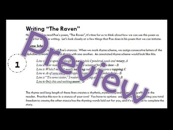 "*A Halloween Lesson for High School**Poe's Gothic Writing in ""The Raven""**"