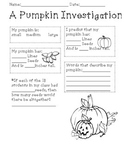 Halloween Pumpkin Investigation (Multiplication/Division)