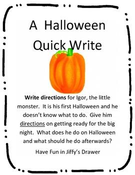 A Halloween Quick Write
