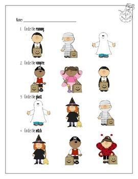 A Halloween Story: Reading & Vocabulary