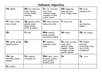 A Halloween Tale- Creative Writing Piece