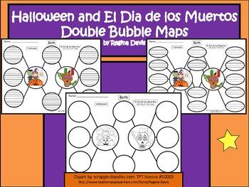 A+ Halloween and El Dia De Los Muertos Double Bubble Compare  And Contrast