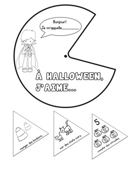 À Halloween, j'aime... {Craftivity}