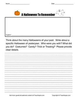 A Halloween to Remember   A Narrative Writing Assignment for Halloween