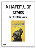 A Handful of Stars by Cynthia Lord Comprehension and Vocab