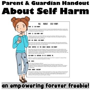 A Parent Handout About Self Harm