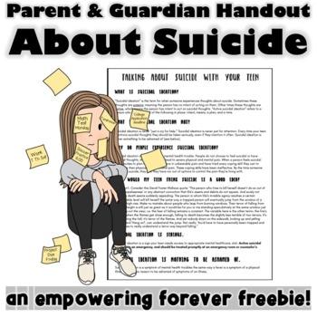 Parent Handout about Suicide