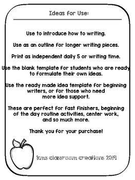 A Handy How-To Outline! Writing paper for Guided and Independent How-To Writing.