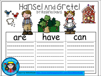A+ Hansel and Gretel... Three Graphic Organizers