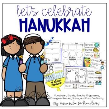 Hanukkah Activities: Graphic Organizers, Mini-Book, and Craft!