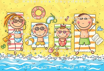 A Happy Family at the Seaside