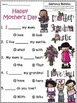 A+ Happy Mother's Day: Fill In the Blank.Multiple Choice Sight Word Sentences