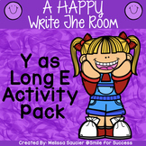Vowel Sound of Y ( Long E) | Write the Room Game and Printable