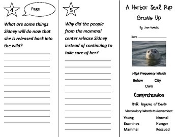 A Harbor Seal Pup Grows Up Trifold - Treasures 2nd Grade Unit 4 Week 4 (2011)