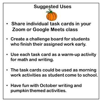 October Enrichment Challenges For Grades 1-3