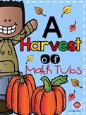 A Harvest of Addition Math Tubs