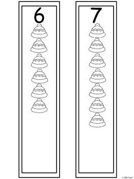 A+ Hats & Mittens Number Sense: Blue Set