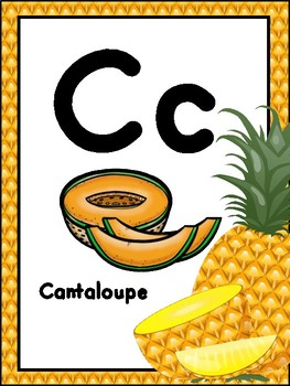 A Healthy Alphabet Poster Set