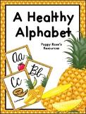 A Healthy Alphabet Poster Set - Cursive