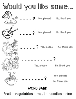 A Healthy Meal Worksheet