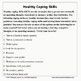Healthy Coping Skills: A Guidance Lesson