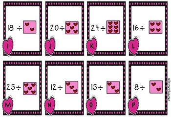 A Heart Divided Valentine's Day Math Center Scoot