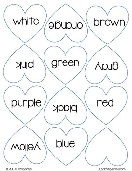 A Heart of a Different Color: Color word matching