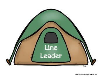 A Helping We Will Go: Editable Camping Themed Helper Chart