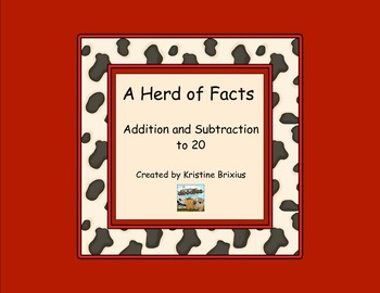 A Herd of Facts - Cow Addition and Subtraction 0 to 20