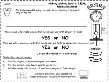 STEM Science, Technology, Engineering & Math Nursery Rhymes Hickory Dickory Dock