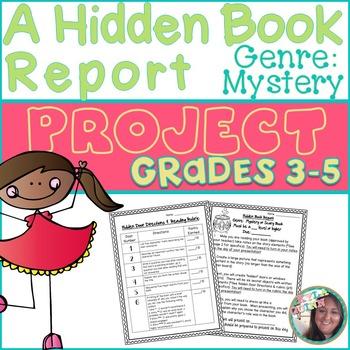 A Hidden Book Report Mystery Genre By The 4th Grade Fix Tpt