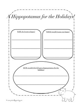 A Hippo for the Holidays: Christmas Writing Tasks