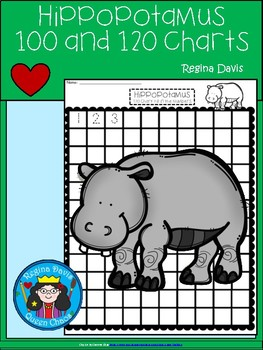 A+ Hippopotamus: Numbers 100 and 120 Chart