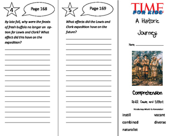A Historic Journey Trifold - California Treasures 5th Grade Unit 2 Week 2