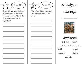 A Historic Journey Trifold - Treasures 5th Grade Unit 5 Week 3 (2011)