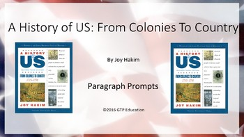 A History of US: From Colonies to Country- Powerpoint Chap