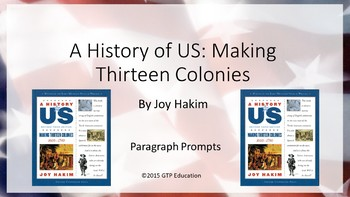 A History of US: Making Thirteen Colonies - Powerpoint Cha