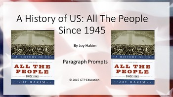 A History of Us: All The People Since 1945 Powerpoint Chap